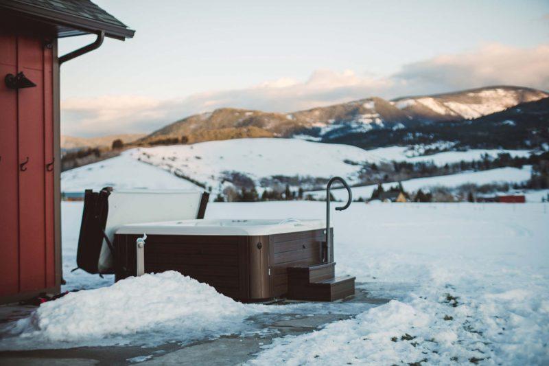 jacuzzi gebruiken in winter